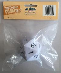 Squishy Dice - White D20