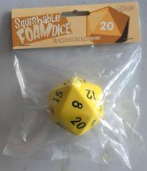 Squishy Dice - Yellow D20