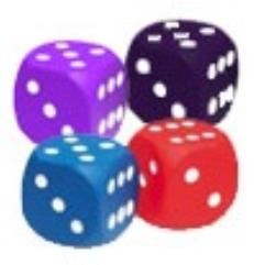 Squishy Dice - D6 Set w/Pips (4)