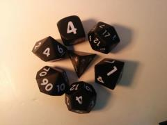 Squishy Dice - Poly Set - Black (7)
