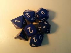 Squishy Dice - Poly Set - Blue (7)