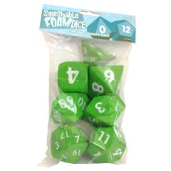 Squishy Dice - Poly Set - Light Green (7)