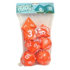 Squishy Dice - Poly Set - Orange (7)