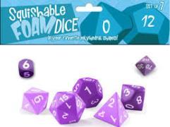 Squishy Dice - Poly Set - Purple (7)