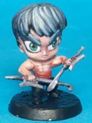 Chibi Kung Fu Master w/Hook Blades