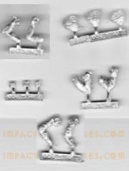 Frog Bare Head Lineman Sprue Pack (3)