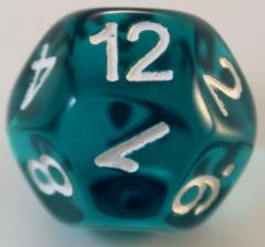 D14 Transparent Teal w/White
