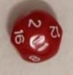 D16 Red w/White - Spherical