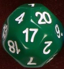 d22 Green w/White