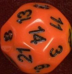 d22 Orange w/Black