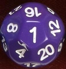 d22 Purple w/White