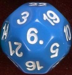 d22 Blue w/White