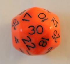 d30 Orange w/Black