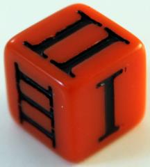D3 Roman - Orange w/Black