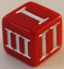 D3 Roman - Red w/White