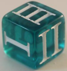 D3 Roman - Translucent Blue w/White