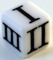 D3 Roman - White w/Black