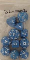 RPG Step Dice - Blue w/White (13)