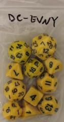 RPG Step Dice - Yellow w/Black (13)
