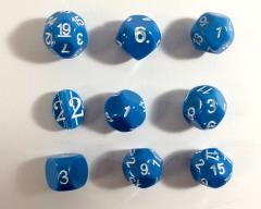 Odd Numbered - Blue w/White (5)