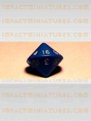 d16 Blue w/White