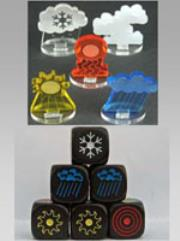 Weather Tokens & Dice Set