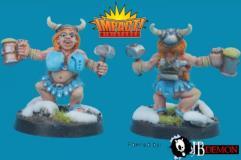 Dwarf Cheerleader #1