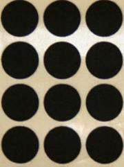 25mm Felt Adhesive Dots - Black (32)