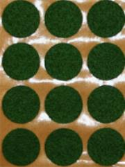 25mm Felt Adhesive Dots - Green (32)