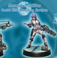 Myrmidon Officer w/Combi Rifle & Boarding Shotgun