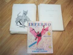 Inferno - Original Manuscript and Printing Plates with Artwork!!