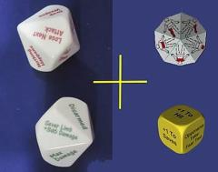 Critical Hit and Fumble Dice (4)