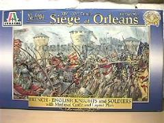 Siege of Orleans - French & English Knights and Soldiers w/Medieval Castle