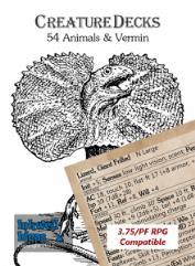 Creature Deck - Animals & Vermin