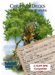 Creature Deck - Fey, Constructs, & Wildlife