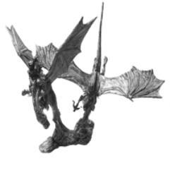 Dueling Dragons - Golddancer & Blacktooth