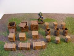 Mixed Wooden Barrel & Crate Set