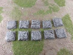 25mm Square - Rock Bases