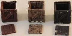 Large Wooden Crates (Open) (Set of 3)