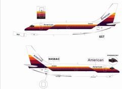 American 737-200 - N458AC (Hybrid Color)