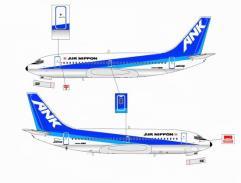ANA (Air Nippon) 737-200 - JA8456