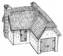 Stucco/Thatch House
