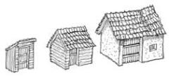 Medium and Small Sheds w/Privy
