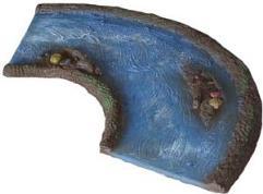 """10"""" Curve w/Island - Aerial Blue"""