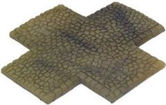 Sandstone Cobblestone - 4 Way Intersection