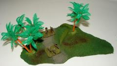 Jungle Terrain w/3 Palm Trees