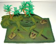 Jungle Field w/Downed Copter & 3 Palm Trees