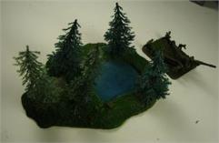 Pine Tree Stand w/Pond
