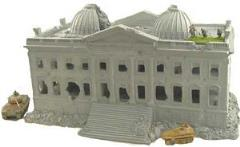 Ruined Government Building - Reichstag Representation w/Basement, Removable Roof and Upper Floors