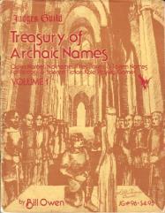Treasury of Archaic Names (1st Printing)